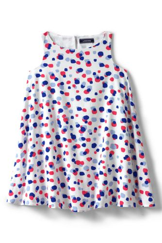 Girls Trapeze Woven Dress From Lands End
