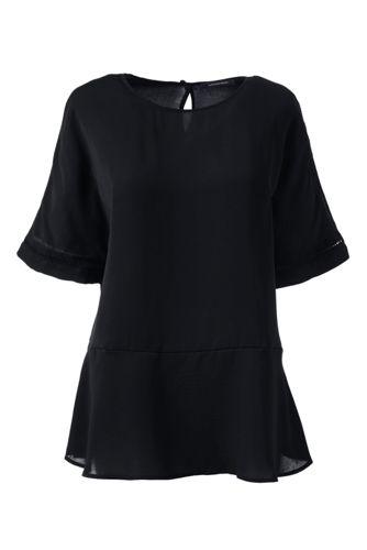 Women's Regular Short Sleeve Peplum Top