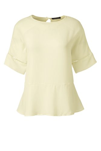 Women's Regular Short Sleeve Peplum Top