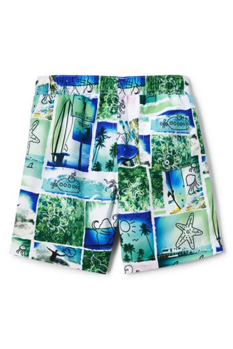 Lands' End - Boys' Volley Printed Swim Shorts - 2