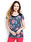 Le T-Shirt Fleuri et Rayé en Coton Modal, Femme Stature Standard
