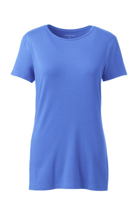 Women's Plus Size Lightweight Fitted Short Sleeve Crewneck T-Shirt