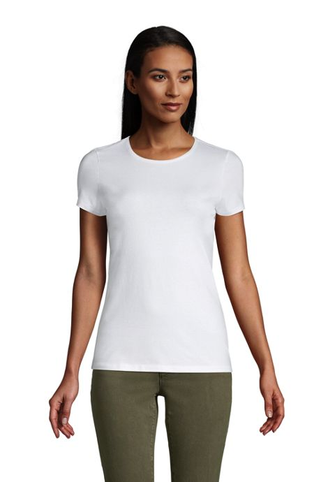 Women's Lightweight Fitted Short Sleeve Crewneck T-Shirt