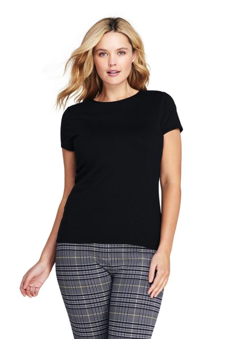 Women's Plus Size Shaped Layering Crewneck T-shirt
