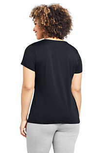 Women's Plus Size Lightweight Fitted Short Sleeve Crewneck T-Shirt, Back