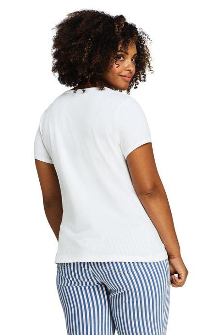 Women's Plus Size Lightweight Fitted Short Sleeve Crewneck T-Shirt