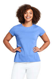 Women's Plus Size Shaped Layering Crewneck T-shirt
