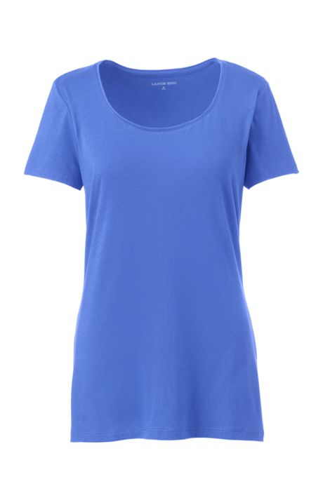 Women's Tall Lightweight Fitted Short Sleeve Scoopneck T-Shirt