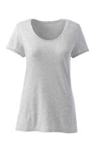 Women's Tall Short Sleeve Shaped Layering Scoop Neck T-Shirt