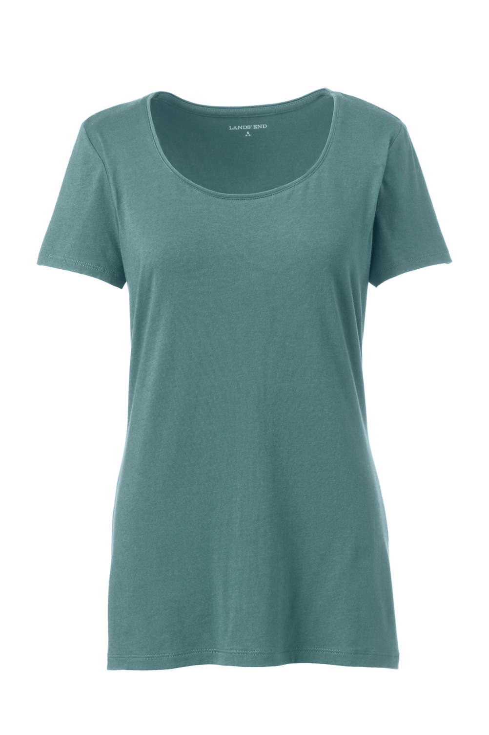 141ea5e65e6895 Women s Short Sleeve Shaped Layering Scoop Neck T-Shirt from Lands  End