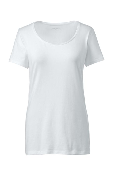 Women's Plus Size Lightweight Fitted Short Sleeve Scoopneck T-Shirt