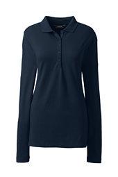 Women's Pique Polo Shirt-Radiant Navy
