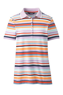 Women's Short Sleeve Print Piqué Polo