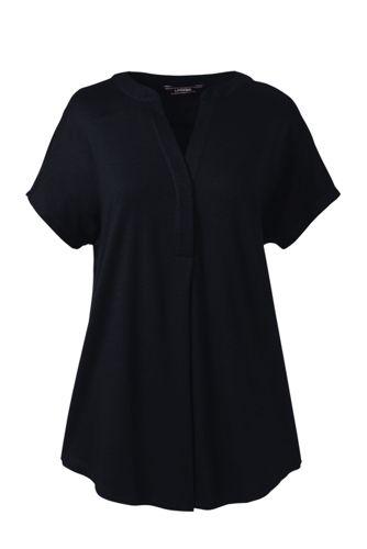 Le Haut en Coton Pima et Modal à Manches Courtes, Femme Stature Standard
