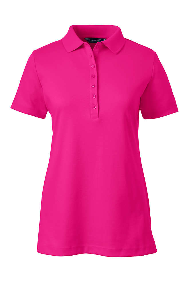 Women's Tall Pima Cotton Polo Shirt, Front