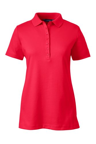 Red Polo Shirts for Women 100% Cotton Petite 5d498a0a17