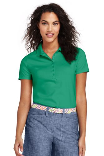 Find Great Cheap Price Cheap Fashionable Womens Regular Classic Fit Short Sleeve Piqué Polo - 8 - BLUE Lands End GBytoIys