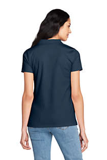 Women's Pima Cotton Polo Shirt, Back