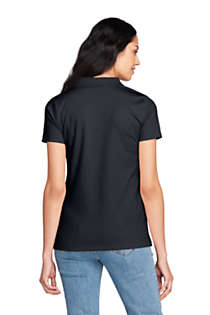 Women's Petite Pima Cotton Polo Shirt, Back