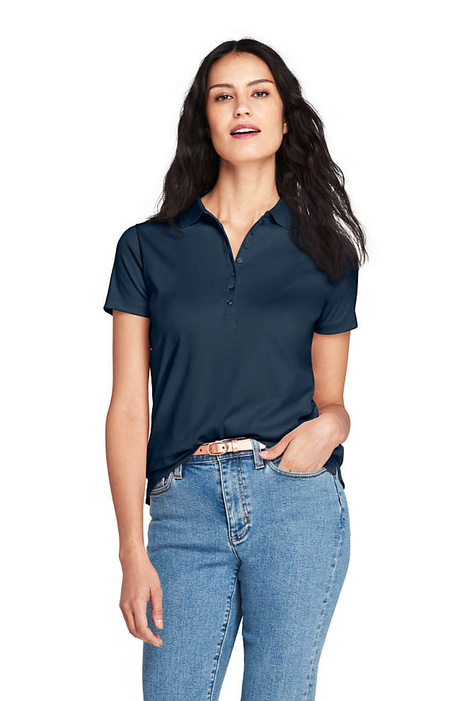 Women's Pima Cotton Polo Shirt, Front