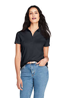 Women's Petite Pima Cotton Polo Shirt, Front