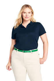 Women's Plus Size Pima Cotton Polo Shirt