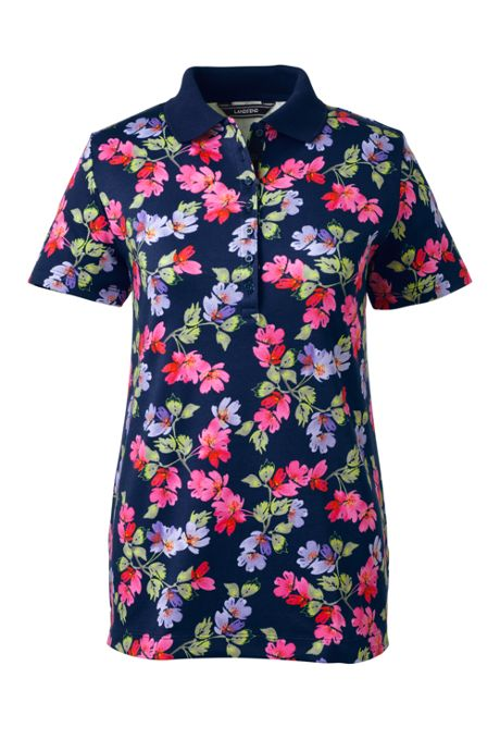 Women's Print Pima Cotton Polo Shirt
