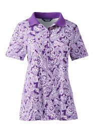 Women's Tall Print Pima Cotton Polo Shirt