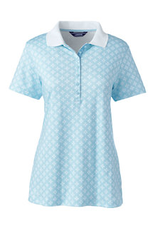 Women's Print Pima Polo Shirt
