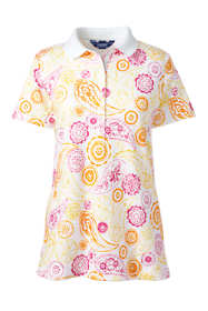 Women's Petite Print Pima Cotton Polo Shirt