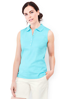 Women's Sleeveless Pima Polo