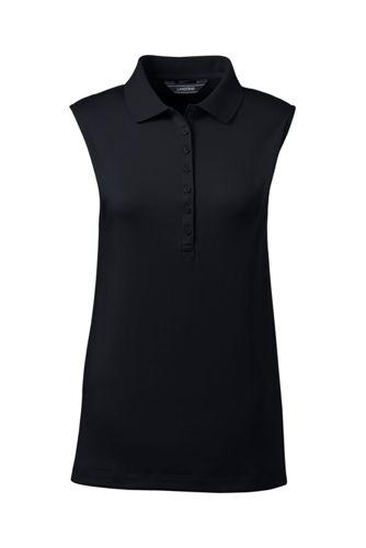 Le Polo Pima Sans Manches, Femme Stature Standard
