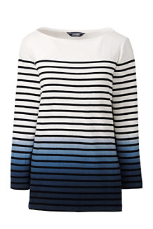 Women's Starfish Stripe Dip Dye Sailor Tee