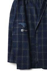 Linen Blazer 483734: Navy Plaid