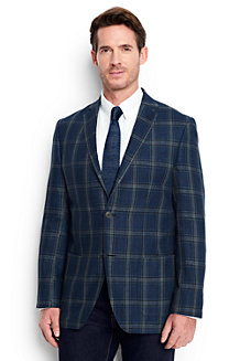 Men's Plaid Linen Blazer