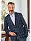 Men's Regular Plaid Linen Blazer