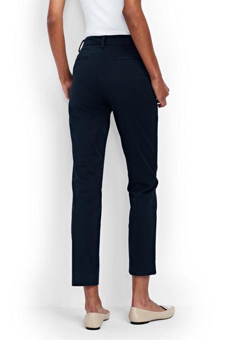 Women's Petite Mid Rise Chino Crop Pants