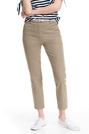 3f860de61544 Women's Mid Rise Stretch Chino Cropped Trousers | Lands' End