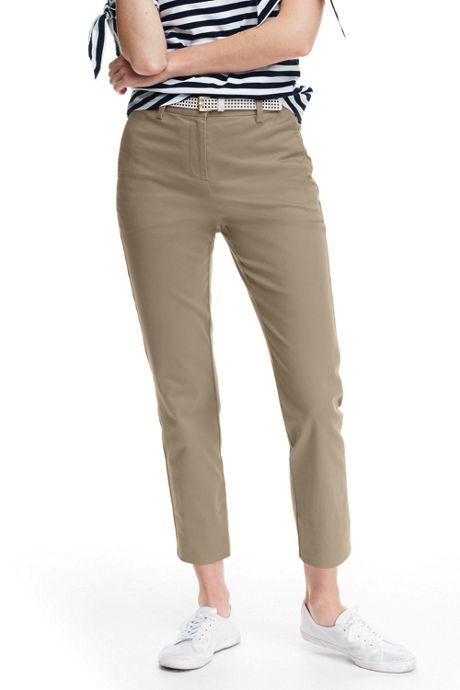 Women's Mid Rise Chino Crop Pants