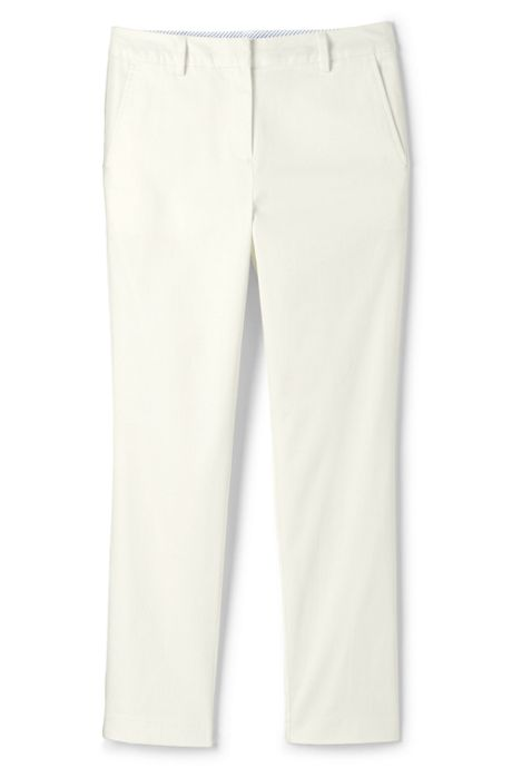 Women's Mid Rise Chino Crop Pants