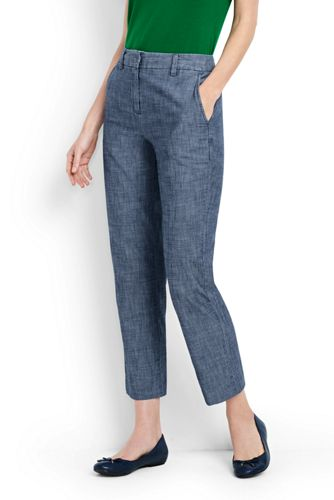 Women's Chambray Crop Trousers