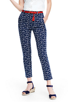 Women's Print Chino Crop Trousers