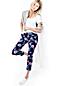 Women's Print Chino Crop Trousers