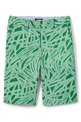 Women's Regular Print Chino 10″ Bermuda Shorts