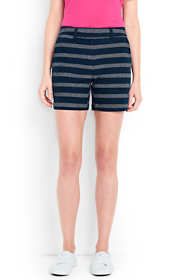 "Women's Petite Mid Rise 5"" Chino Shorts"