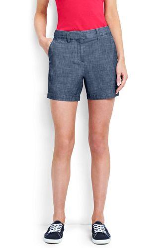 Le Short en Chambray, Femme Stature Standard