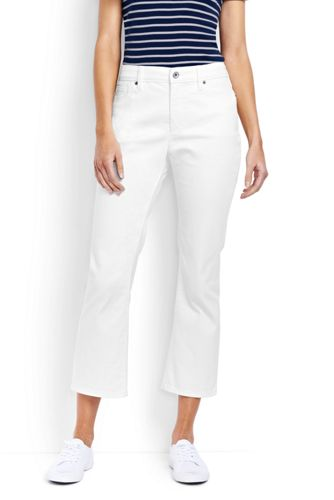 Fleckabweisende 7 8-Denim-Jeans in Weiß für Damen   Lands  End 39cc5863d1
