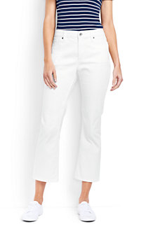 Women's XtraLife™ White Denim Kick Crop Jeans