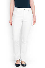 Women's Plus Size  Mid Rise Straight Leg Jeans - Stain Repellent