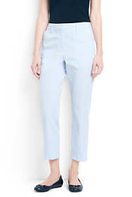 Women's Tall Mid Rise Seersucker Crop Pants